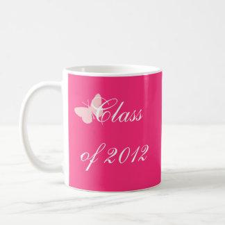 Class of 2012 - Pink Butterfly Mugs
