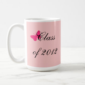 Class of 2012 - Pink Butterfly Coffee Mugs
