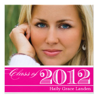 Class of 2012 Pink Graduation Announcement