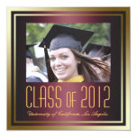 Class of 2012, Red and Gold Graduation Invite