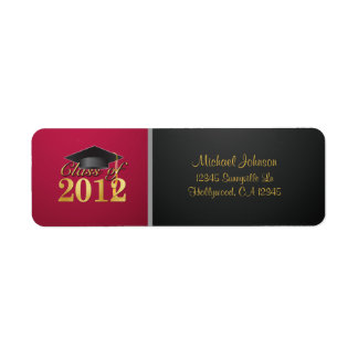 Class of 2012 Return Address Label