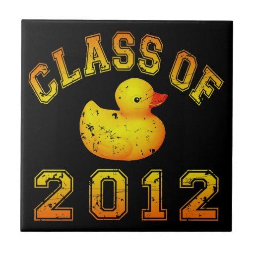 Class Of 2012 Rubber Duckie - Yellow/Orange Tiles