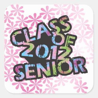 Class of 2012 Senior Square Sticker