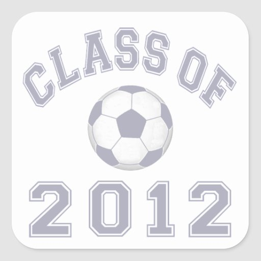 Class Of 2012 Soccer - Grey 2 Stickers