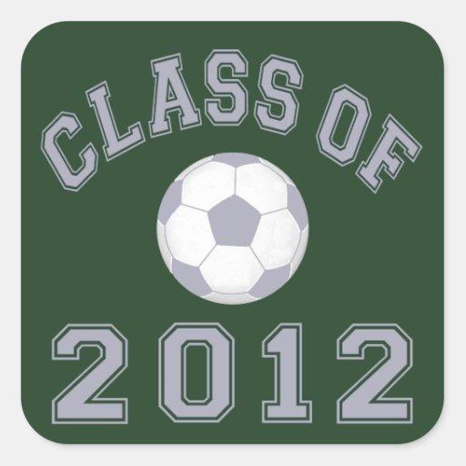 Class Of 2012 Soccer - Grey 2 Square Sticker