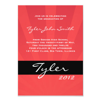 Class of 2012 Spring Collection Red 13 Cm X 18 Cm Invitation Card