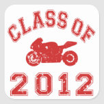 Class Of 2012 Square Stickers