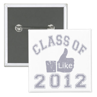 Class of 2012 Thumbs Up - Grey 15 Cm Square Badge