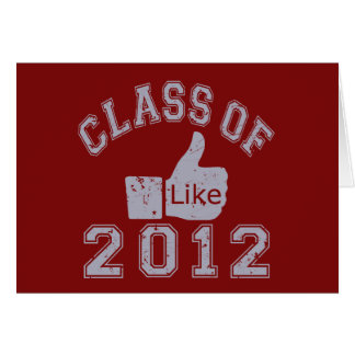 Class of 2012 Thumbs Up - Grey Card