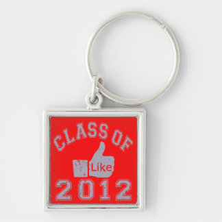 Class of 2012 Thumbs Up - Grey Keychain