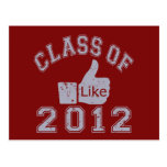 Class of 2012 Thumbs Up - Grey Postcards