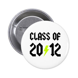 Class Of 2012 Yellow Bolt 6 Cm Round Badge