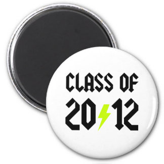 Class Of 2012 Yellow Bolt 6 Cm Round Magnet