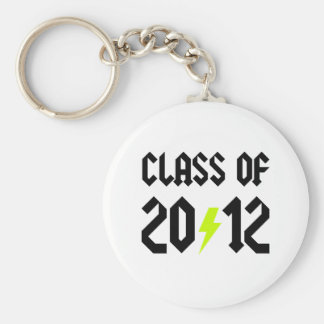 Class Of 2012 Yellow Bolt Basic Round Button Key Ring