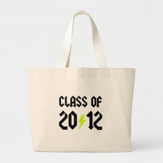 Class Of 2012 Yellow Bolt Jumbo Tote Bag