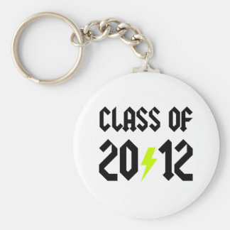 Class Of 2012 Yellow Bolt Keychains