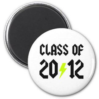 Class Of 2012 Yellow Bolt Magnet