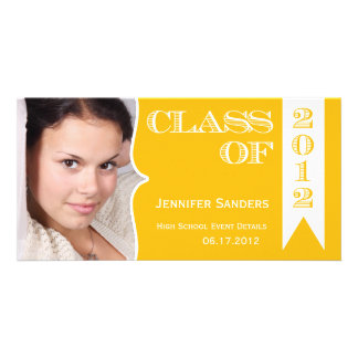 Class of 2012 Yellow Graduation Announcement Photo Cards