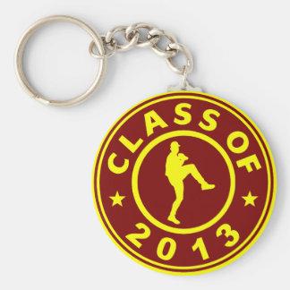 Class Of 2013 Baseball Pitcher Basic Round Button Key Ring