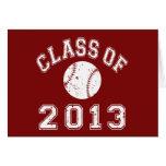 Class Of 2013 Baseball - White Greeting Card