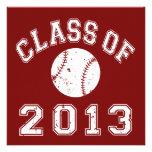 Class Of 2013 Baseball - White Personalised Invitations