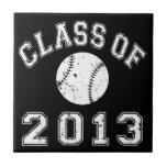 Class Of 2013 Baseball - White Tile
