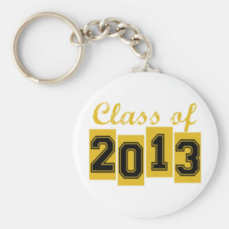 Class of 2013 basic round button key ring