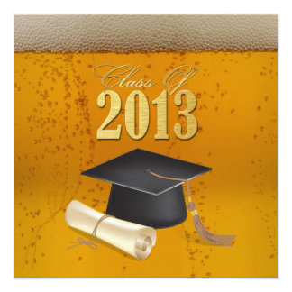 Class of 2013 Beer Themed Graduation Card