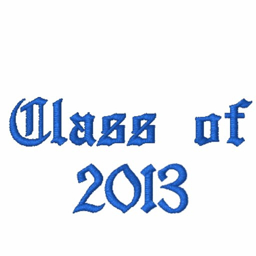 Class of 2013 - Black and Blue Embroidered Hoodie