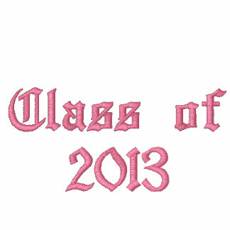 Class of 2013 - Black and Pink Embroidered Ladies Pullover Hoodie