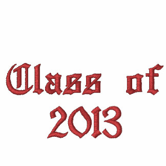 Class of 2013 - Black and Red Embroidered Hoody