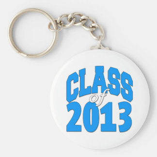 Class of 2013 (blue 2) basic round button key ring