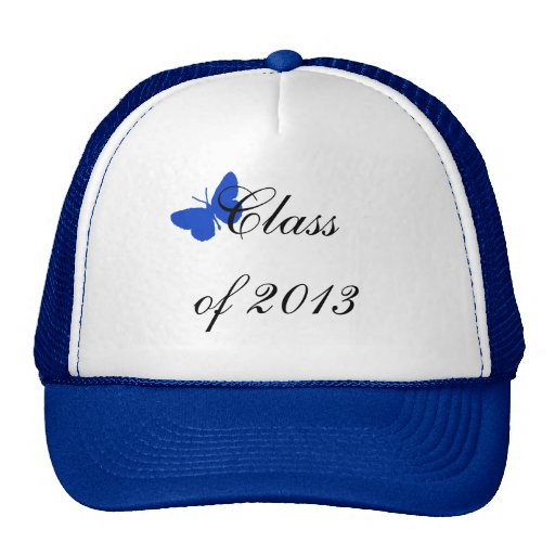 Class of 2013 - Blue and Gold Butterfly Mesh Hat