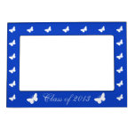 Class of 2013 - Blue and White Photo Frame Magnets