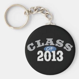 Class Of 2013 Blue Basic Round Button Key Ring