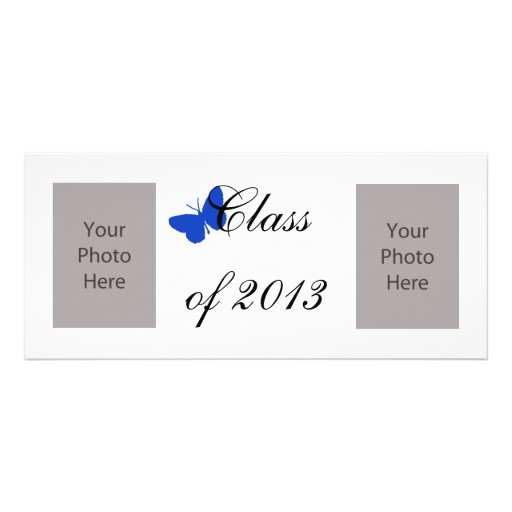 Class of 2013 - Blue Butterfly 10 Cm X 23 Cm Rack Card