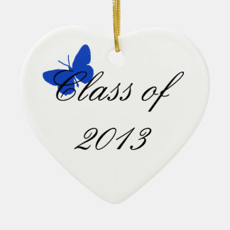 Class of 2013 - Blue Butterfly Christmas Ornament