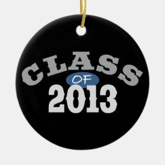 Class Of 2013 Blue Round Ceramic Decoration