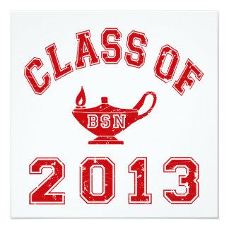 Class Of 2013 BSN 13 Cm X 13 Cm Square Invitation Card