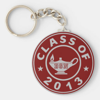 cLASS oF 2013 bsn Basic Round Button Key Ring