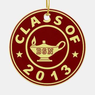 Class Of 2013 BSN Round Ceramic Decoration