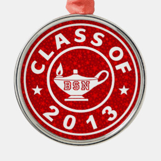 Class Of 2013 BSN Silver-Colored Round Decoration