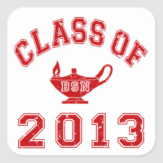 Class Of 2013 BSN Square Sticker