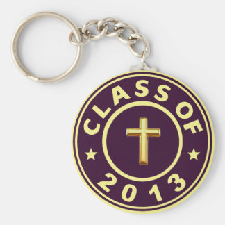 Class Of 2013 Christian Cross Keychains