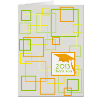 Class Of 2013 Citrus Squares Graduation Thank You Greeting Card