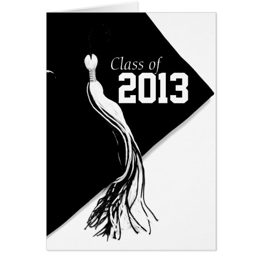 Class of 2013 Classic Black Graduation Card