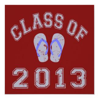 Class Of 2013 Flip Flop - Grey/Blue 2 Card