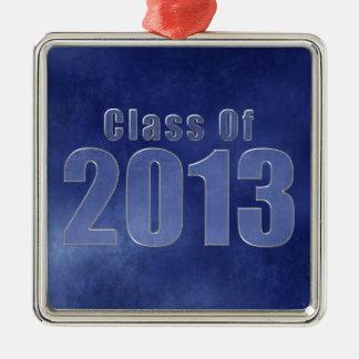 Class of 2013 Graduation Ornament Blue Grunge