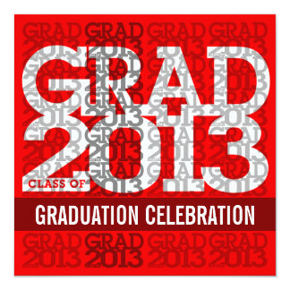 Class Of 2013 Graduation Party Invitation Red