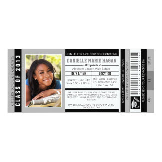 Class of 2013 Graduation VIP Admission Ticket Card